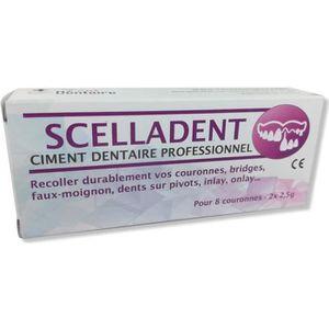 FIXATEUR PROTHÈSE DENT SCELLADENT Ciment Dentaire pour recoller Bridge, C