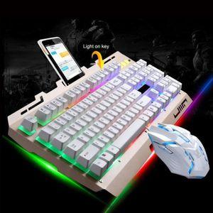 PACK CLAVIER - SOURIS G700 LED arc-en-jeu de jeu de rétroéclairage coule