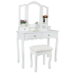 COIFFEUSE Coiffeuse Table de maquillage Blanc Fixée Au Mur,
