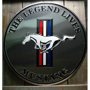 Blechwaren STR 178 Plaque de Rue en t/ôle avec Logo Ford Mustang 46 x 10 cm