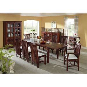 TABLE À MANGER SEULE Table extensible 160-240x90cm, 6 à 10 Personnes, B