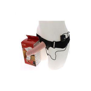 GODEMICHET - VIBRO Gode ceinture creux vibrant réaliste - 17,5 c