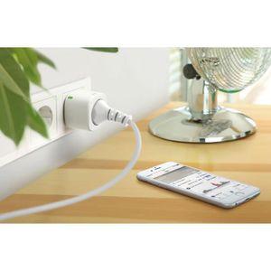 ADAPTATEUR DE VOYAGE EVE Energy Sensor & Switch Prise connectée