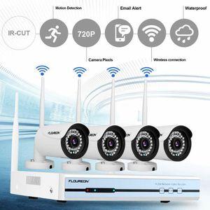 CAMÉRA DE SURVEILLANCE FLOUREON 1080P Kit Caméra de Surveillance 4CH Sans