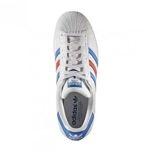 BASKET Chaussures Superstar White/Blue/Red e17 - adidas O