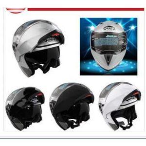 CASQUE MOTO SCOOTER Casque Moto Modulable Intégral  Ouvert XL(ARGENT)