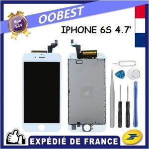 ECRAN DE TÉLÉPHONE ÉCRAN LCD IPHONE 6S BLANC AVEC VITRE TACTILE SUR C