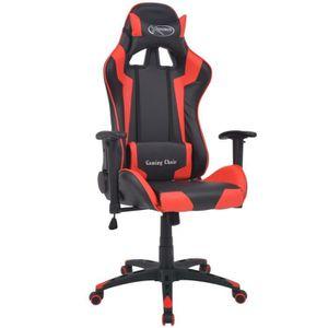 CHAISE DE BUREAU Chaise de bureau inclinable Cuir artificiel Rouge