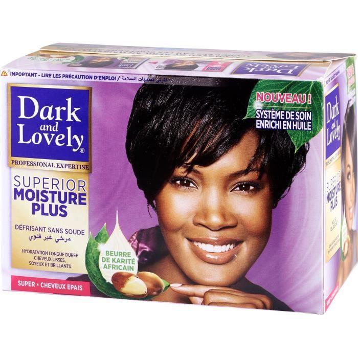 DARK & LOVELY Kit Défrisant sans Soude Soin Hydratant Moyen - Beurre de Karité - 359ml