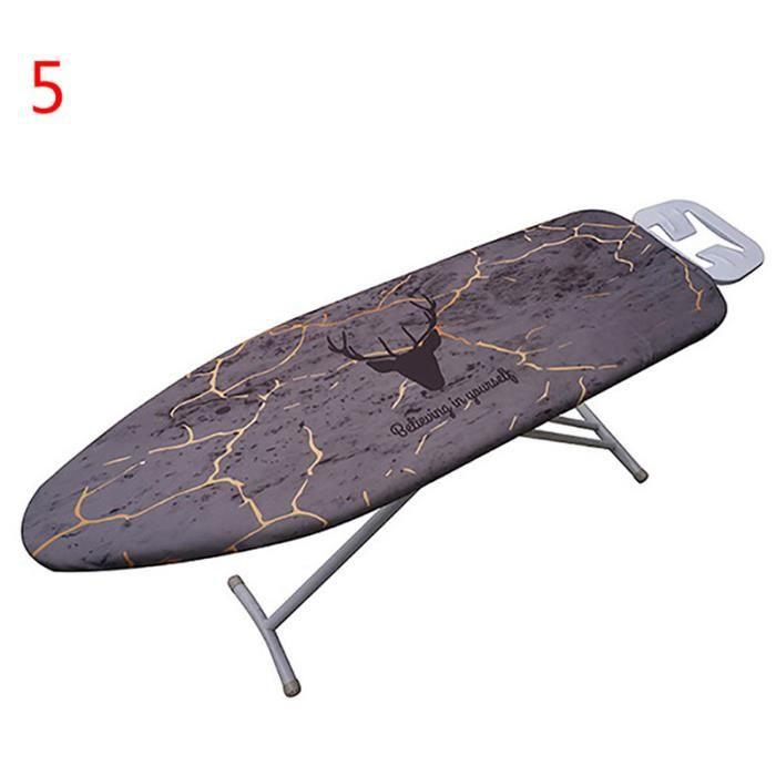 Housse de Table à Repasser Tissu Presse de Protection pour Marbrer Couverture en Fer Pliante Supersize 140x50cm - Style E
