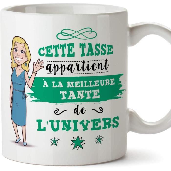 Tata Mug - Tasse – Meilleure Tante de l'univers - Tasse Originale - Cadeau Anniversaire - Future Tatie. Céramique 350 ML 1
