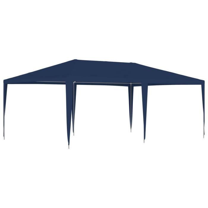Tente de réception Tonnelle de Jardin pavillon chapiteau 4x6 m Bleu