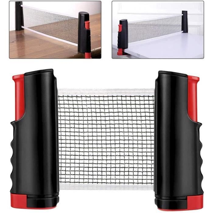 Filet de Ping Pong, Accessoire escamotable de ping-Pong de Support de Filet de Tennis de Table pour la Table de Bureau de Table