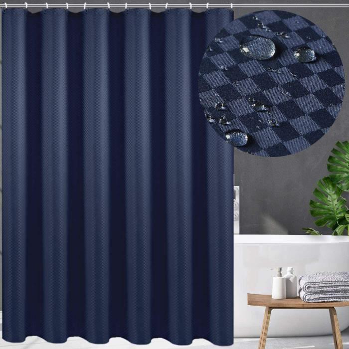 Rideaux Swanson Rideau de douche anti-moisissure moderne et &eacutel&eacutegant 120-150-180-200 x 200 cm (bleu, 150 x 200 cm)263