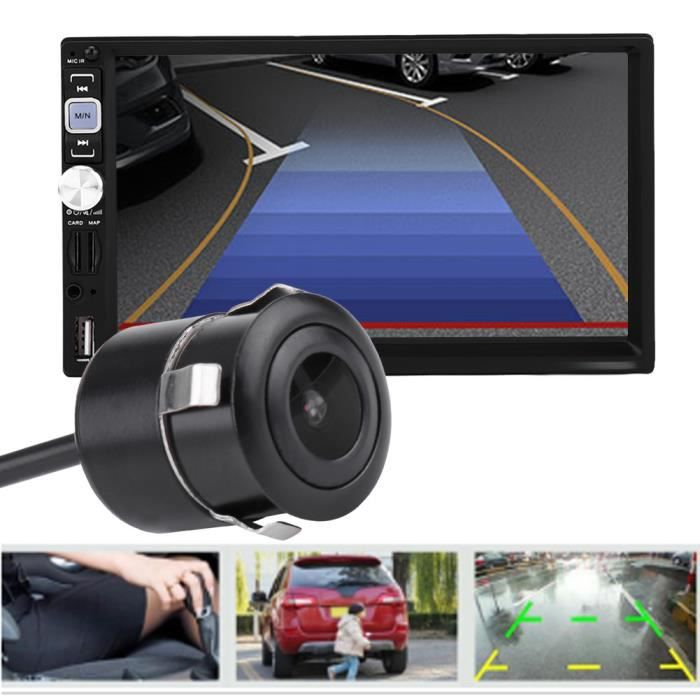 Cikonielf Caméra de recul de voiture 18.5mm HD Low Light Night Version voiture caméra de recul de recul affichage coloré NTSC /