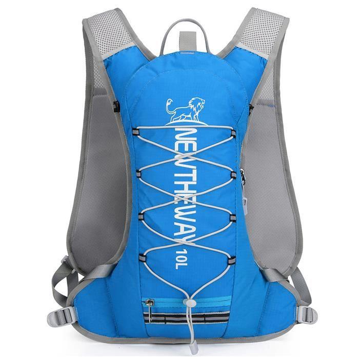 Sac à dos d'hydratation isolé 10L Vest Pack Sac isotherme pour courir à vélo Camping Randonnée Marathon Bleu