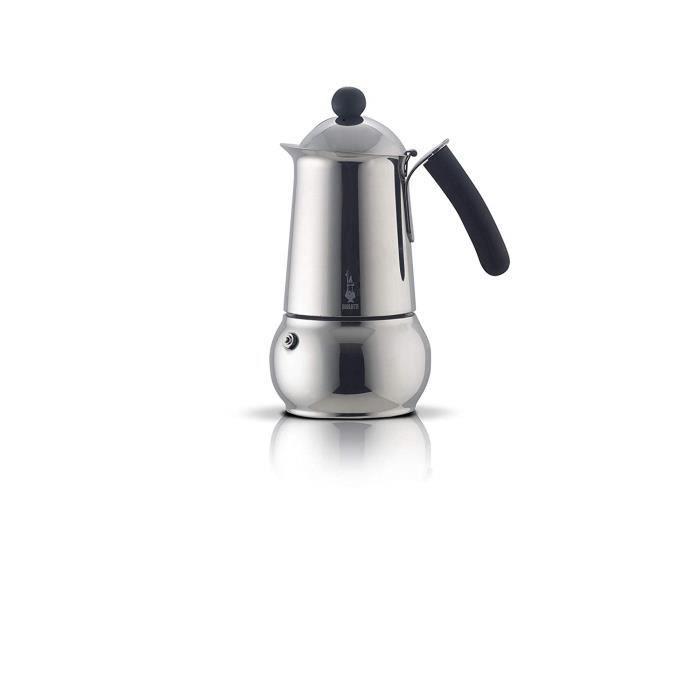 Bialetti Machine à Expresso pour 2 Tasses, Acier Inoxydable, Argent, 30 x 20 x 15 cm - 4641