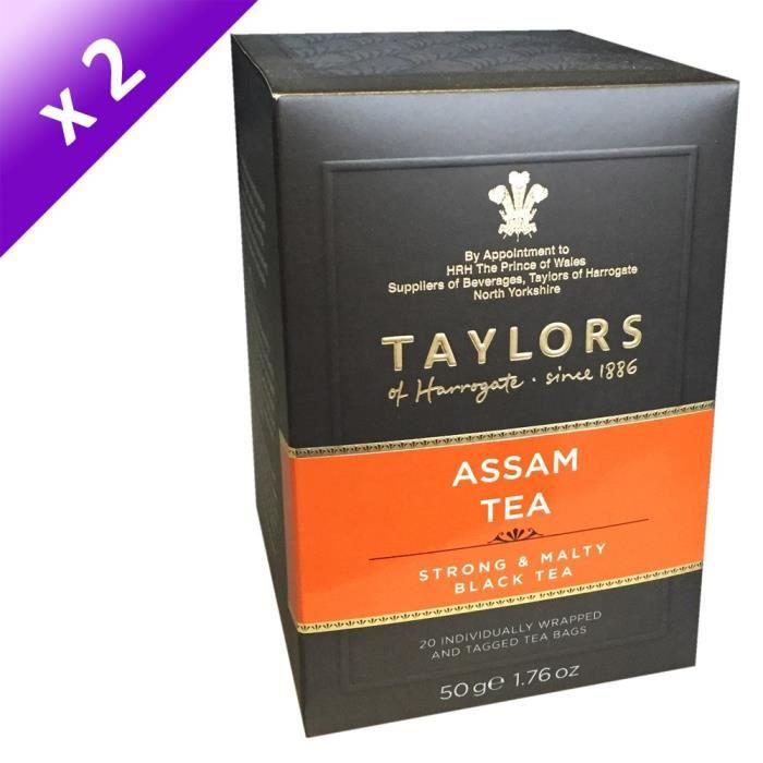 [LOT DE 2] TAYLORS Thé Assam - 20 sachets - 50 g