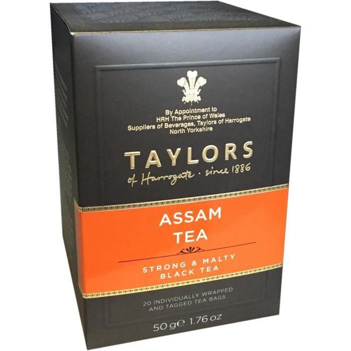 TAYLORS Thé Assam - 20 sachets - 50 g