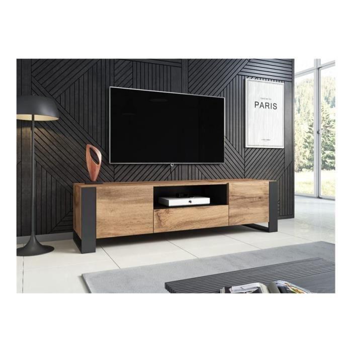 Meuble TV design DOOWA - Bois et gris