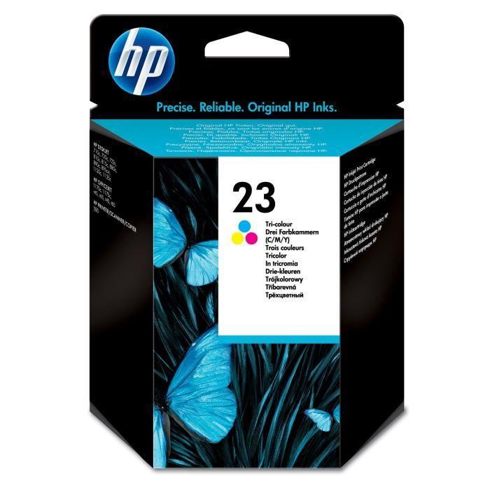 HP 23 cartouche d'encre trois couleurs authentique pour HP PSC 500 et HP OfficeJet Pro 1170 (C1823D)