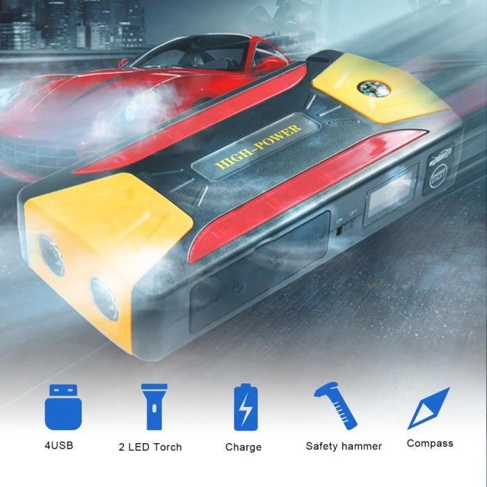 Booster Batterie, 300A 8000mAh Portable Jump Starter, Démarrage de Voiture, avec la lampe de poche LED et banque de puissance d'USB