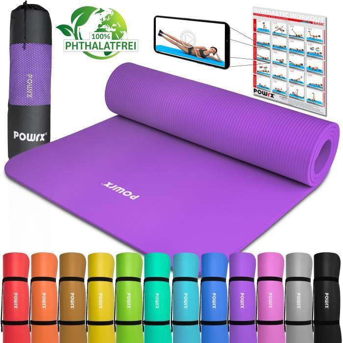 Tapis de gymnastique Tapis de yoga avec tapis d'entrainement I Entrainement 183x60x1cm vers. couleurs Couleur: Violet