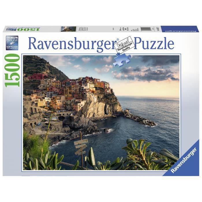 Puzzle 1500 pièces - Vue sur les Cinque Terre - Ravensburger - Puzzle adultes - Dès 14 ans