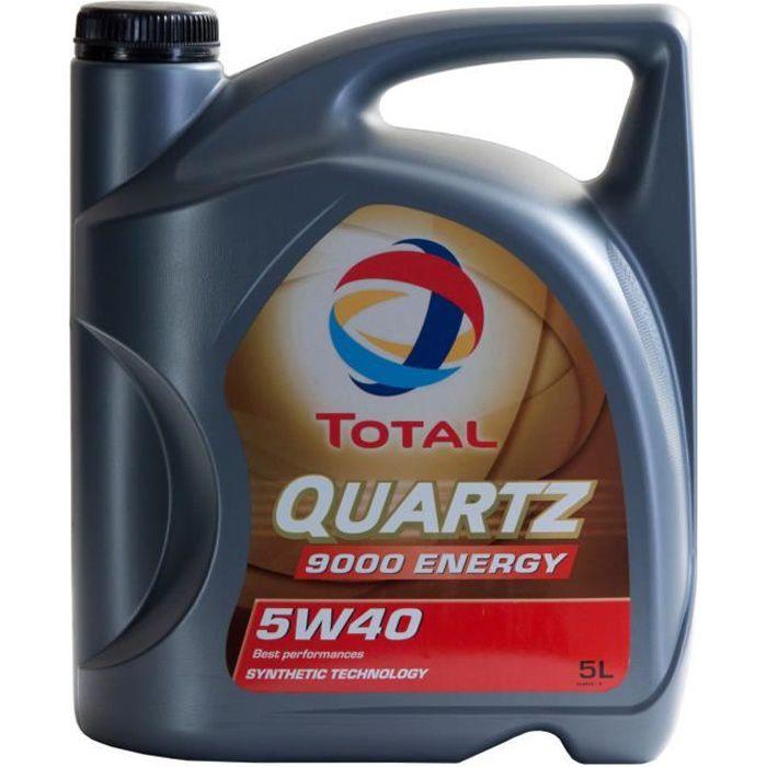 Huile moteur Total QUARTZ 9000 ENERGY 5W-40 5 Litres Jerrycans