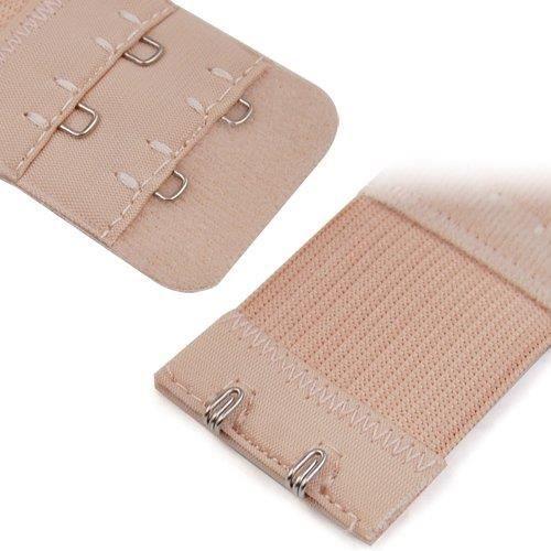 TRIXES 3 Articles Rallonges Souples de Sangles de Soutiens-gorge à 2 Crochets en Noir Blanc Beige