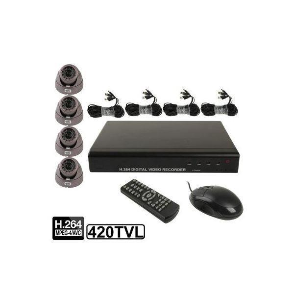 Kit 4 caméras IP enregistreur numérique videosu...