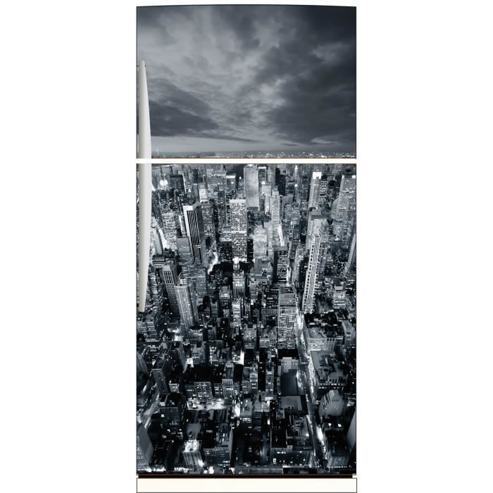 Sticker frigo d co cuisine new york noir et blanc achat for Deco cuisine new york