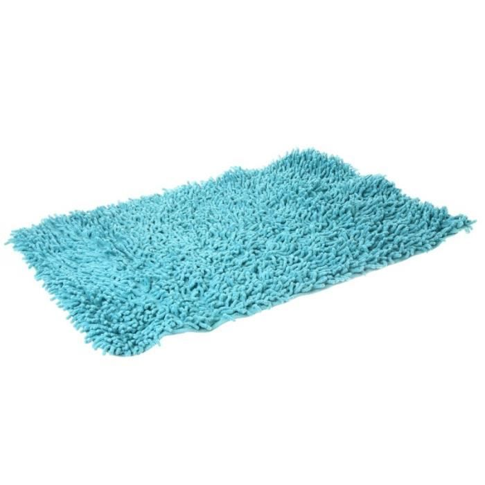 tapis de salle de bain chenilles turquoise achat vente tapis de bain cdiscount. Black Bedroom Furniture Sets. Home Design Ideas