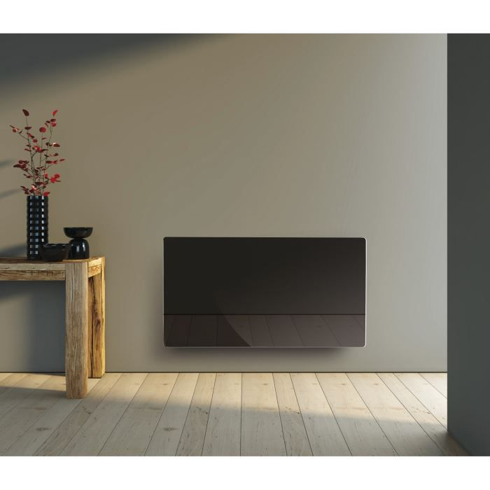 alpina radiateur rayonnant 1500w verre noir achat. Black Bedroom Furniture Sets. Home Design Ideas