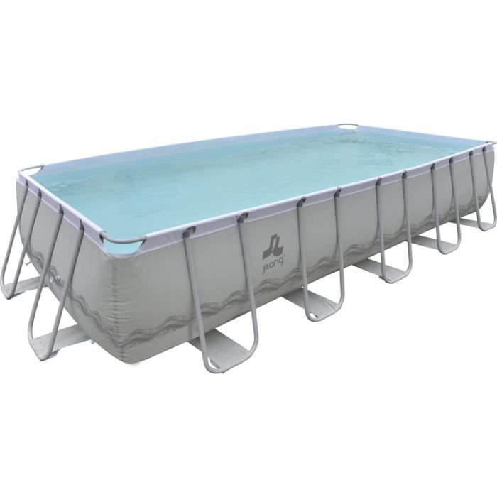Piscine tubulaire 549x305x122cm grise achat vente for Piscine tubulaire occasion