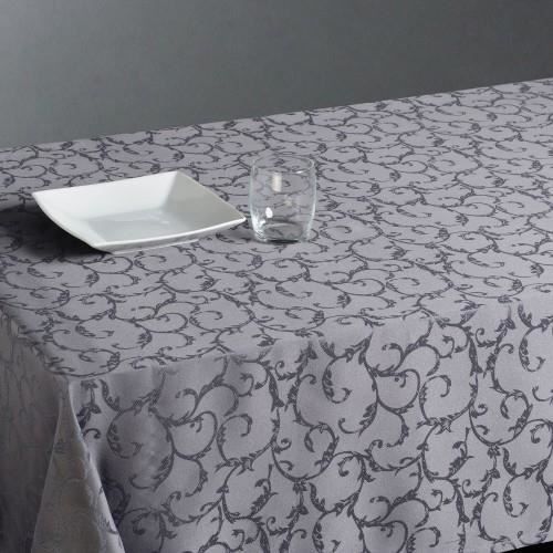 nappe antitache arabesque 140x240cm gris clair achat vente nappe de table cdiscount. Black Bedroom Furniture Sets. Home Design Ideas
