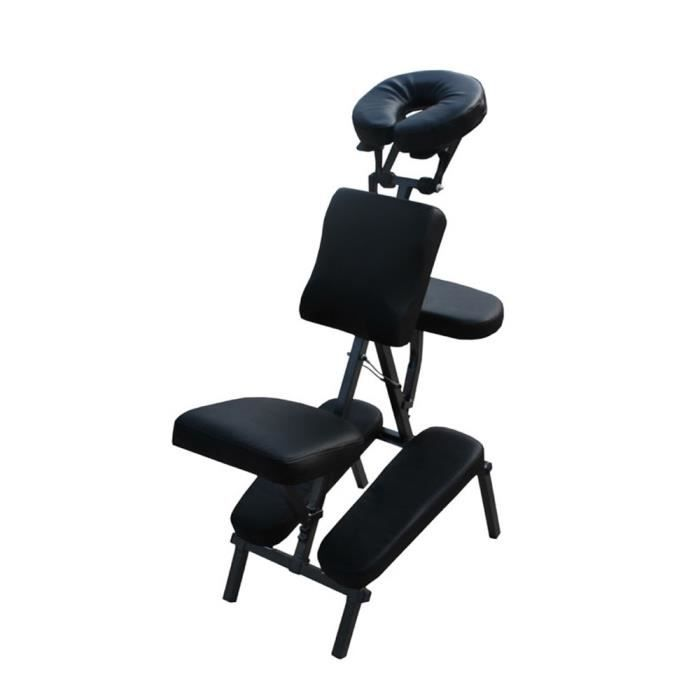 chaise de massage noir ergonomique pliante achat vente. Black Bedroom Furniture Sets. Home Design Ideas
