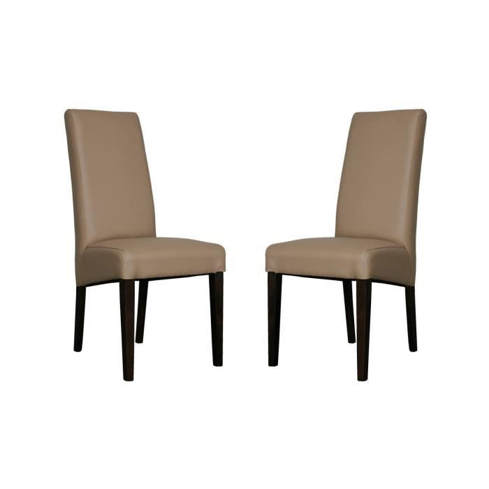 lot de 2 chaises taupe adria achat vente chaise gris cdiscount. Black Bedroom Furniture Sets. Home Design Ideas