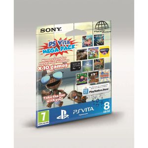 CARTE MÉMOIRE CONSOLE CARTE MEMOIRE 8 GO MEGA PACK : KIDS / PS VITA