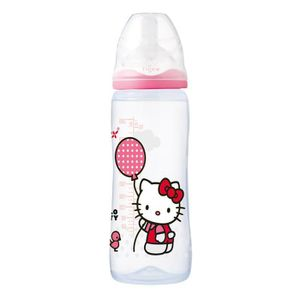 HELLO KITTY Biberon Intuition 360 ml Tétine en Silicone 6 Mois+