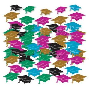 Amscan Graduation Grand Multi-Couleurs Chapeaux Bannières