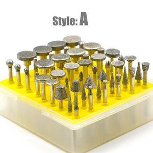 BROSSE ABRASIVE A MAIN Outils rotatifs Accessoire 50pcs Fraises à polir d