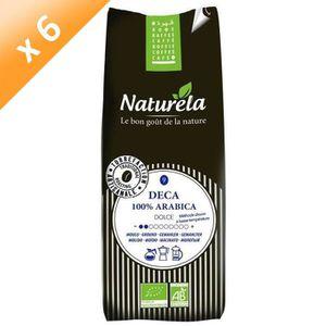 CAFÉ NATURELA Café Deca 100% Arabica Moulu n°9 Bio 250g