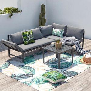 Salon bas de jardin Teora salon de jardin bas, canapé inclinable