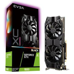 CARTE GRAPHIQUE INTERNE EVGA GeForce GTX 1660 XC Ultra Black, 6144 MB GDDR