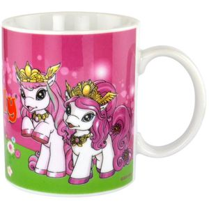 bol mug mazagran mug poney filly licorne 320 ml ceramique