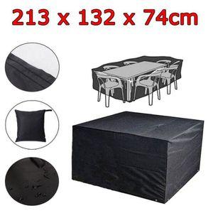 HOUSSE MEUBLE JARDIN  LESHP® Housse de protection table de jardin Anti-U