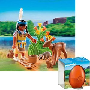 UNIVERS MINIATURE PLAYMOBIL 5278 Indienne avec animaux