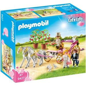 UNIVERS MINIATURE PLAYMOBIL 9427 - City Life - Carrosse et couple de