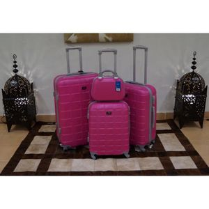 SET DE VALISES Set 3 valises + Vanity, 4 roues pivotantes ROSE